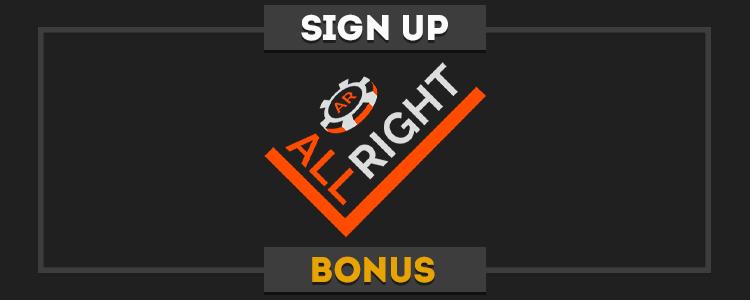 AllRight real money no deposit bonus